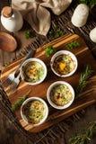 Cream яичко печет в Ramekin стоковая фотография