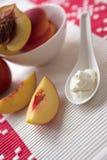 cream персики Стоковая Фотография RF