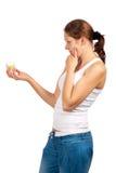 косметическая cream зеленая женщина стоковые изображения rf