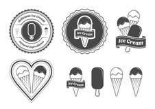 комплект льда плодоовощ шоколада cream Стоковое Изображение