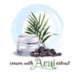 Cream with acai extract royalty free illustration