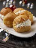Cream and apple fritters Royalty Free Stock Photos