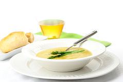 Cream of Asparagus Soup Royalty Free Stock Photography