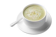 Cream of asparagus soup Stock Photo