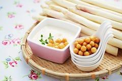 Cream of asparagus soup Royalty Free Stock Photos