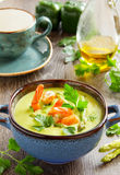 Cream of asparagus soup Stock Images