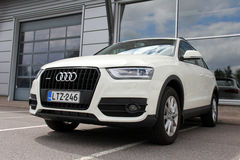 Cream Audi Quattro stock photography
