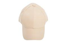 Cream Baseball Hat Isolated Stock Images