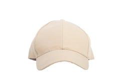 Cream Baseball Hat Isolated Royalty Free Stock Photos
