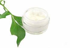 Cream bio natural skin care cosmetic Stock Photo