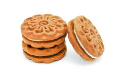 Cream biscuits Stock Image