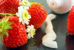 Cream for body care stock photo