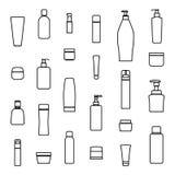 Cream bottle line icon ,vector Royalty Free Stock Photo