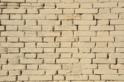Cream brick textured background. Stock Photography