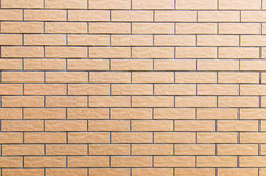Cream brick wall texture Royalty Free Stock Photography
