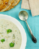 Cream of Broccoli Soup Royalty Free Stock Image