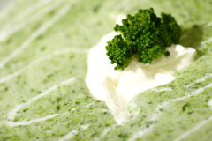 Cream of broccoli soup Royalty Free Stock Photography