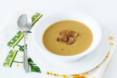 Cream broccoli soup Stock Images