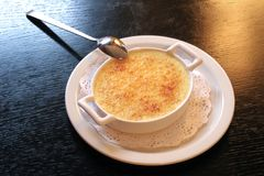 Cream-brule (french dessert) Stock Image