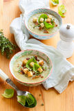 Cream of brussel sprout soup Royalty Free Stock Photography