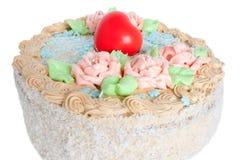 Cream cake. Festive cream cake for celebration Day of Sainted Valentin Stock Images