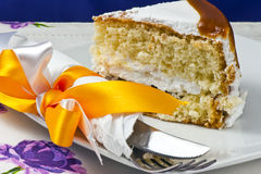 Cream cake with caramel Stock Photography
