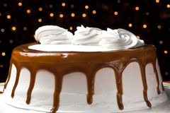 Cream cake with caramel Royalty Free Stock Photos