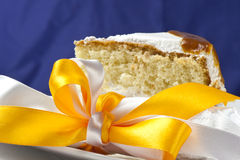 Cream cake with caramel Stock Photo