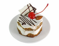 cream cake with cherries Stock Image