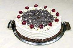 Cream cake with cherries Stock Photography
