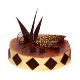 Cream cake with chocolate Royalty Free Stock Image