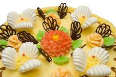Cream cake, close-up Stock Images