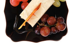 Cream cake and grapes Royalty Free Stock Images