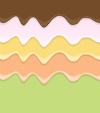 Cream Cake Icing Background Vector Illustration Stock Photography