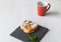 Cream cake with mint Stock Photos