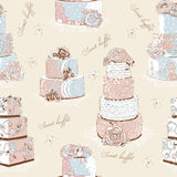 Cream cake pattern Stock Photo