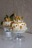 Cream cake. With sesame seed Stock Photography