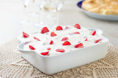 Cream cake with strawberries Stock Photography