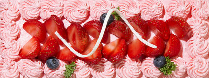 Cream cake surface Royalty Free Stock Images