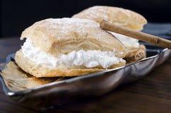 Cream cakes Stock Image