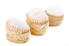 Cream cakes Stock Photo