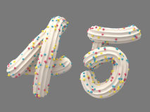 Cream and candy font Stock Photography