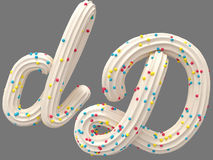Cream and candy font Royalty Free Stock Image