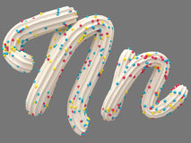 Cream and candy font Stock Photo