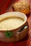 Cream from cantal cheese Stock Photos