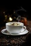 Cream Cappuccino Coffee Stock Image