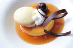 Cream caramel Stock Image