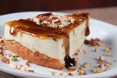 Cream Caramel Cheesecake Royalty Free Stock Images