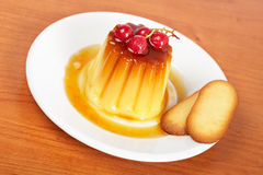 Cream caramel dessert Stock Photography
