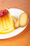 Cream caramel dessert Royalty Free Stock Images